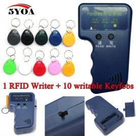 Ручний копір, зчитувач та перезаписувач RFID карт, брелків, міток +10 перезаписуваних брелків EM4305 T5577.