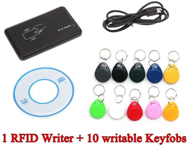 USB сканер та рекордер RFID карт, брелків, міток + 10 перезаписуваних брелків