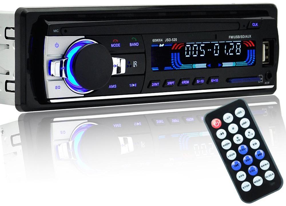 PolarLander JSD-520. Автомобільний 1 DIN програвач MP3 / WMA / USB / SD / AUX та FM-приймач з підтримкою Bluetooth.